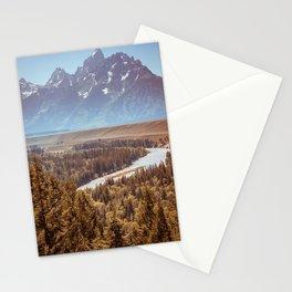 Grand Teton National Park Snake River Overlook Print Stationery Cards