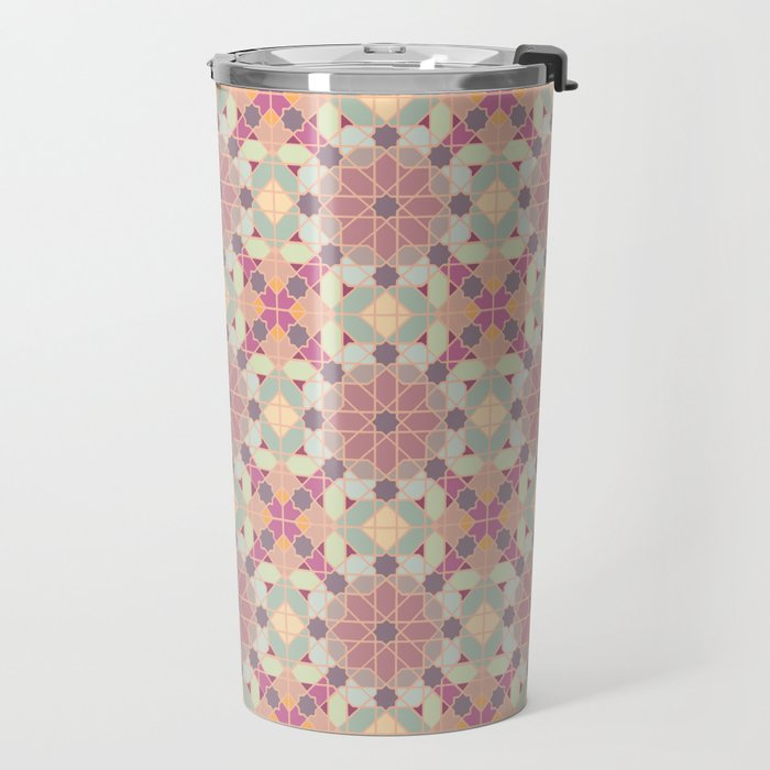 modern arabic pattern in pastel colors Travel Mug