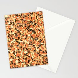 Mac & Cheese Pattern Stationery Cards