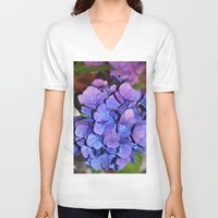 hydrangea V-neck T-shirts featuring Hydrangea by J Butterfield Photography