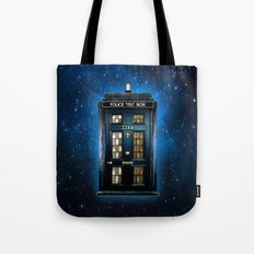 Tardis doctor who Mashup with sherlock holmes 221b door Tote Bag