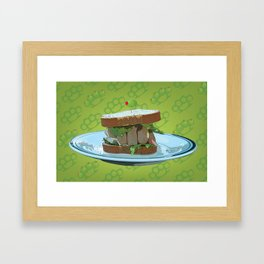 Knuckle Sandwich Framed Art Print