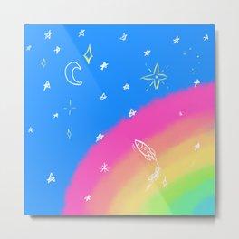 Rainbow Skies Metal Print