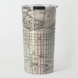 Vintage Map of Louisville Kentucky (1884) Travel Mug