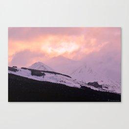 Rose Quartz Turbulence - III Canvas Print