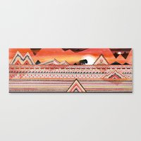 journey Canvas Prints featuring Journey by Sandra Dieckmann