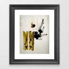 oink - oil? oink - oil? Framed Art Print