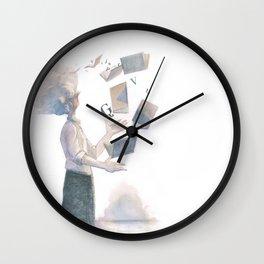 THE BOOK JUGGLER Wall Clock