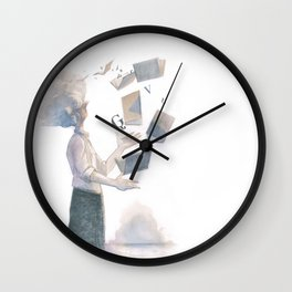 THE BOOK JUGGLER Wall Clock
