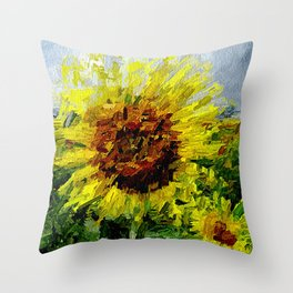Sonnenblume Throw Pillow