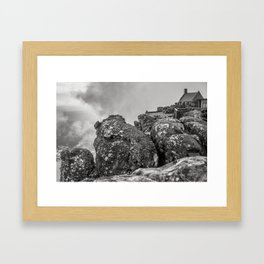 Table mountain view, Cape Town. Framed Art Print