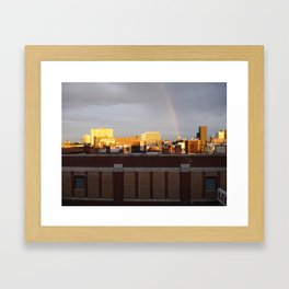 A photo out of the window of my old loft. Framed Art Print
