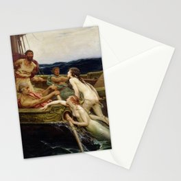 Herbert James Draper - Ulysses and the Sirens Stationery Cards