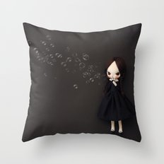 Blow bubbles Throw Pillow
