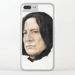 Severus Snape, Alan Rickman portraitoriginal art print Clear iPhone Case