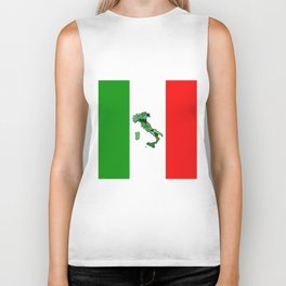 Map of Italy and Italian Flag Biker Tank