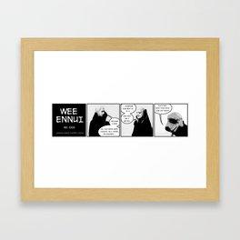 Wee Ennui No. 003: Zing! Framed Art Print