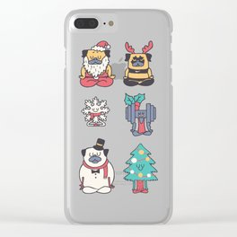 Merry Pugsgym Meditation Clear iPhone Case