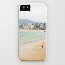 La Concha Beach, San Sebastian - Donostia-San, Spain iPhone Case