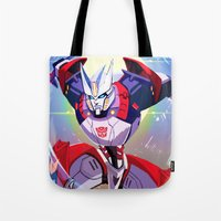 transformers Tote Bags featuring Transformers: Drift by Esuerc Voltimand