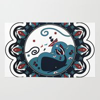 the whale Area & Throw Rugs featuring whale by gazonula