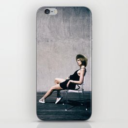 top model with hat iPhone Skin