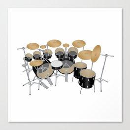 Black Drum Kit Canvas Print