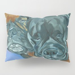 Boxer Buddies Dog Portrait Pillow Sham