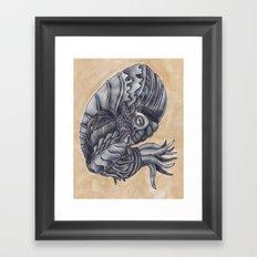 Mars Octopus Framed Art Print