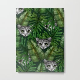 Jungle Kittens Metal Print