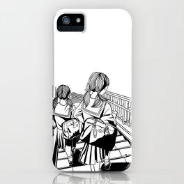 Japanese School Girls  iPhone Case