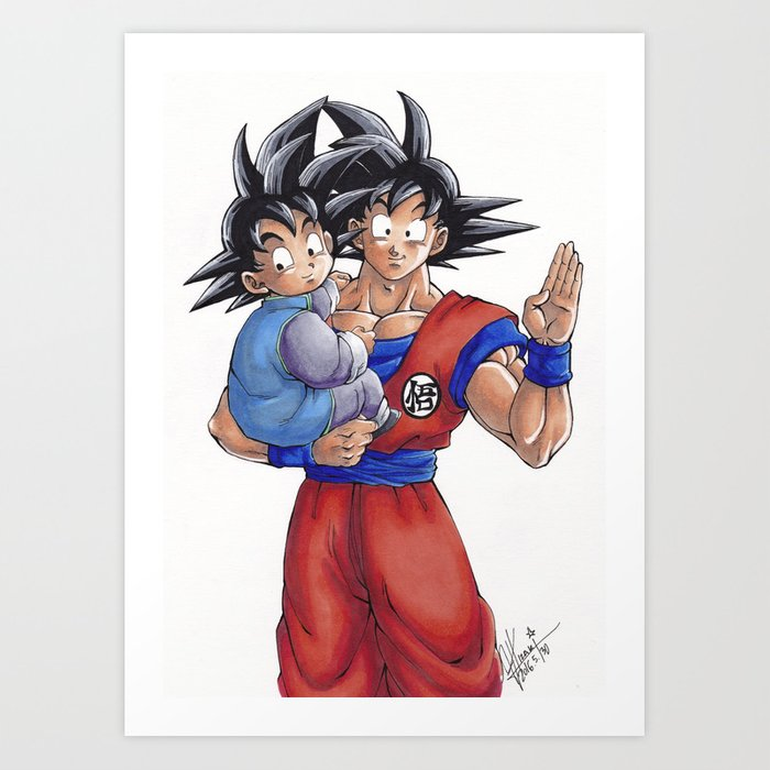 goku and goten by fran fuentes art print by franhizaki society6