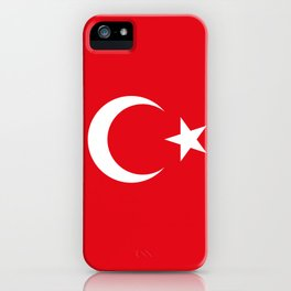 National flag of Turkey, Authentic color & scale iPhone Case