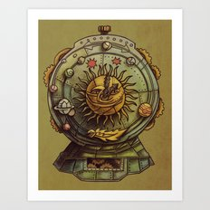 Cosmic Clock Art Print