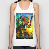 "andreas preis Tank Tops featuring "" The old elephant knows where to find some water. "" by shiva camille"
