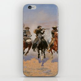 A Dash for the Timber - Frederic Remington iPhone Skin
