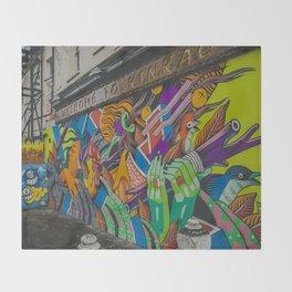 London graffiti art Throw Blanket
