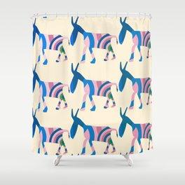Donkey Parade Shower Curtain