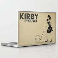 kirby Laptop & iPad Skins featuring Kirby Hoover by Lily's Factory
