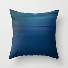 Endless Blue Throw Pillow