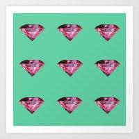 gem Art Prints featuring Gem by Next Level Doots