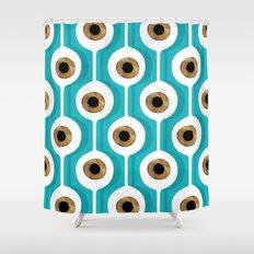 Eye Pod Turquoise Shower Curtain