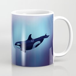 """""""Lost in Fantasy"""" by Amber Marine ~ Orca / Killer Whale Art, (Copyright 2015) Coffee Mug"""