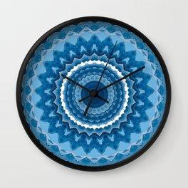 Blue mandala 2 Wall Clock
