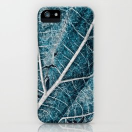 Frozen Winter Leaf iPhone Case