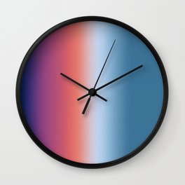 Ombre Clouds 1 Reversed Wall Clock
