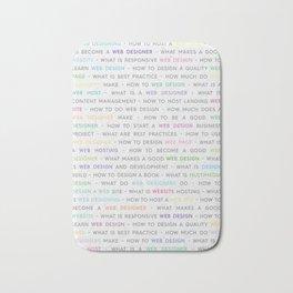 Colored Web Design Keywords Poster Concept Bath Mat