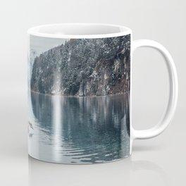 Swans on the Apsee lake, Bavrian alps Coffee Mug