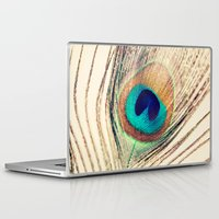 peacock feather Laptop & iPad Skins featuring Peacock Feather  by Laura Ruth