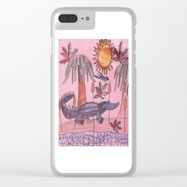 Swamp Hunt Clear iPhone Case